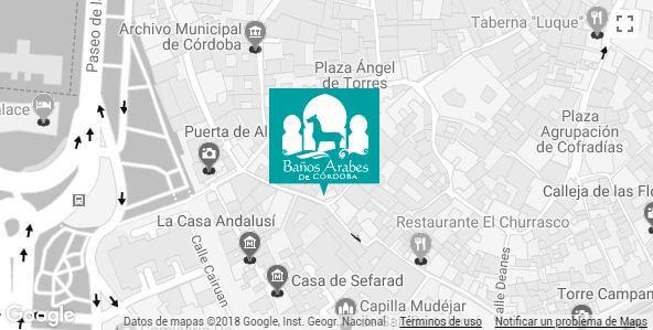 Situación Baños Árabes de Córdoba